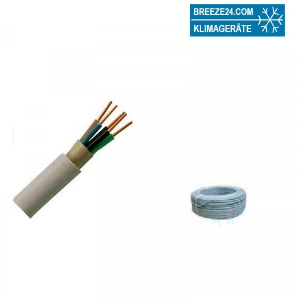 NYM-J 5 x 1.5 mm² Mantelleitung PVC Grau
