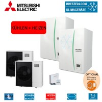 Set Kaskaden 2 x ERSC-MEC Hydrobox + 2 x Wärmepumpe PUHZ-SW100YAA Kühlen und Heizen