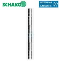 Deckenschlitzauslass 3 schlizig DSX-XXL-P3-Zuluft L=600-1000 mm mit Anschlusskasten