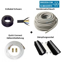 Installationspaket Quick Connect 6/12 Kältemittelleitungen + Dämpfungssockel