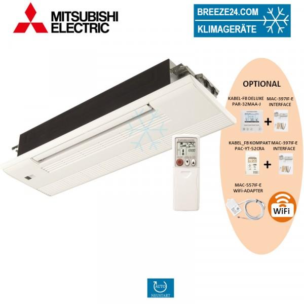 MLZ-KA50VA/MLP-443W 1-Wege Deckenkassette mit Blende + mit Infrarot-Fernbedienung