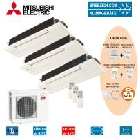 Set 3 x MLZ-KA25VA 1-Wege-Deckenkassette + MXZ-3E54VA