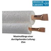 6/10mm DUO-Kältemittelleitung isoliert