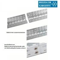 Metallkabelrinne 60 x 200 x 2000 mm verzinkt (mit/ohne Deckel)