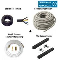 Installationspaket Quick Connect 6/12 Kältemittelleitungen + Montageschienen