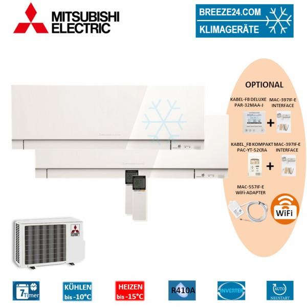 Set 2 x Premium Wandgeräte MSZ-EF25VE3 W + MSZ-EF35VE3 W + MXZ-2D53VA